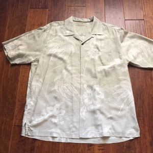 Men's Tommy Bahama silk shirt. Large
